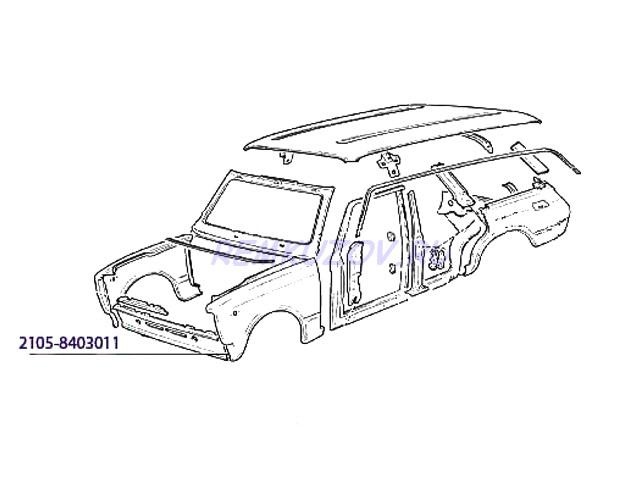 переднее левое ВАЗ 2105