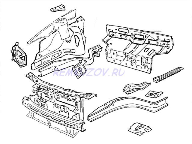 радиатора ВАЗ 2110 · Схема