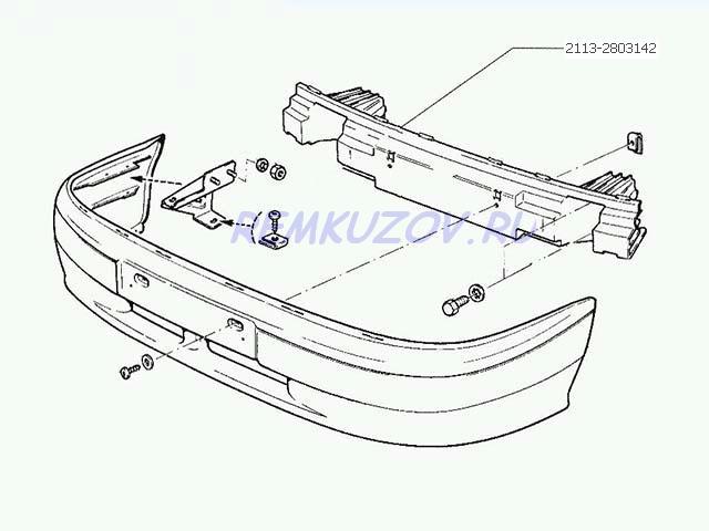 передняя ВАЗ 2113 · Схема