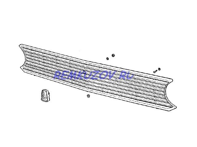 Пластиковая решетка радиатора ВАЗ 2101: http://www.remkuzov.ru/catalog/info/Detali_kuzova_VAZ/reshetka_radiatora_VAZ_2101_plast_/