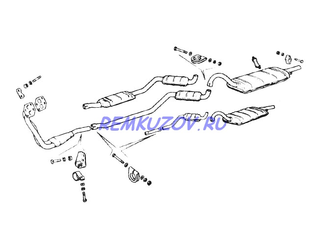 глушитель ВАЗ 2104 (2-х