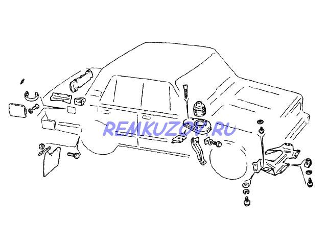 пыльник двигателя ВАЗ 2105