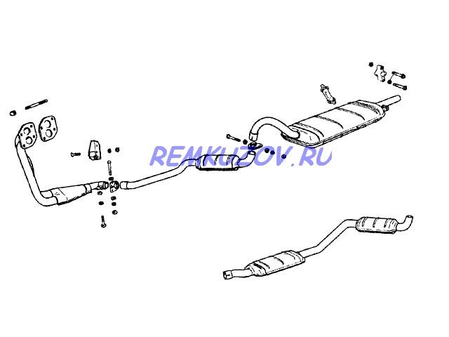 глушитель ВАЗ 2101-07 закатной
