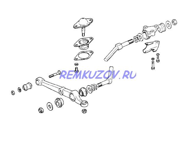 подвески нижний 2108
