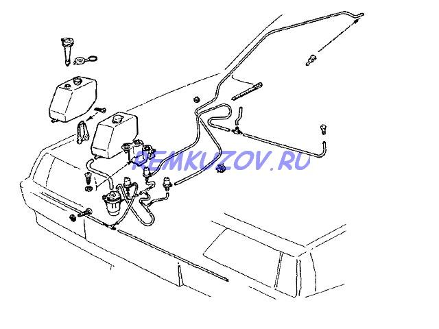 ВАЗ 2108 · бачок омывателя