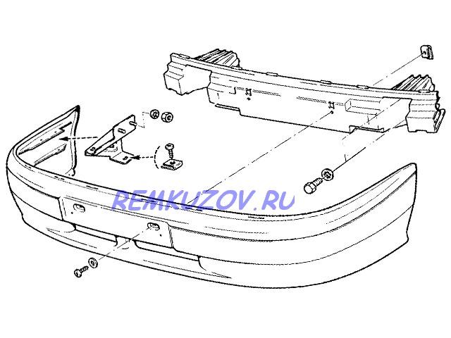 бампер передний ВАЗ 2114 сочи