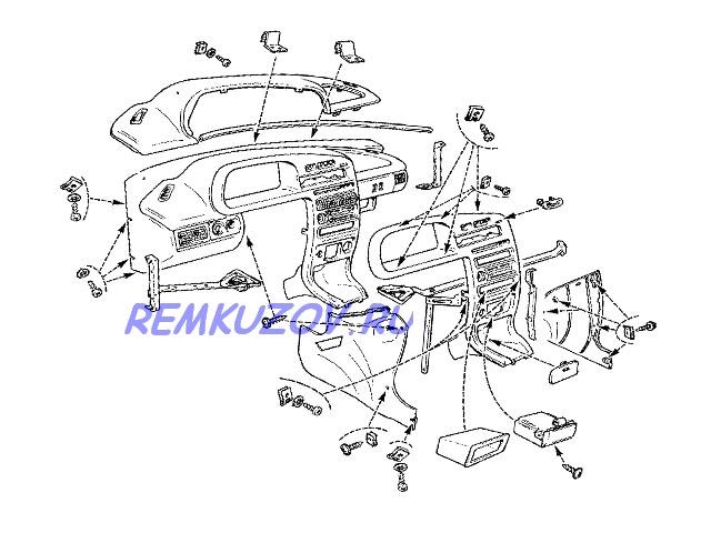Схема и распиновка панели приборов ВАЗ 2110