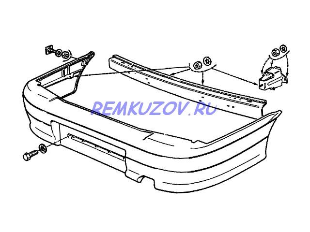 Пол кузова ВАЗ-21099 (Чертеж 7: цены на запчасти) 157